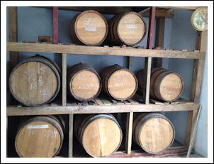 Whiskey in Oak Barrels